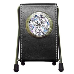 Panic! At The Disco Pen Holder Desk Clocks by Onesevenart