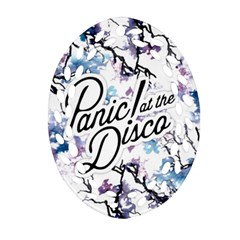 Panic! At The Disco Oval Filigree Ornament (two Sides) by Onesevenart