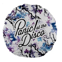 Panic! At The Disco Large 18  Premium Round Cushions by Onesevenart