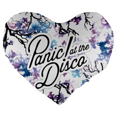 Panic! At The Disco Large 19  Premium Heart Shape Cushions by Onesevenart