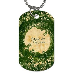 Panic At The Disco Dog Tag (one Side) by Onesevenart