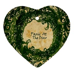 Panic At The Disco Heart Ornament (two Sides) by Onesevenart