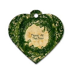 Panic At The Disco Dog Tag Heart (one Side) by Onesevenart