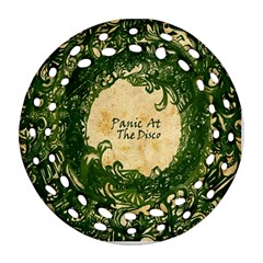 Panic At The Disco Round Filigree Ornament (two Sides) by Onesevenart