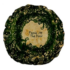Panic At The Disco Large 18  Premium Flano Round Cushions by Onesevenart