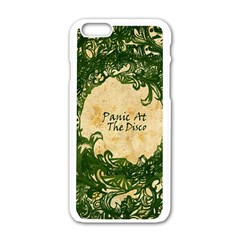 Panic At The Disco Apple Iphone 6/6s White Enamel Case by Onesevenart