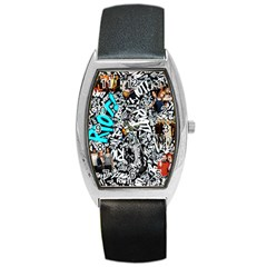Panic! At The Disco College Barrel Style Metal Watch by Onesevenart