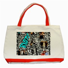 Panic! At The Disco College Classic Tote Bag (red) by Onesevenart