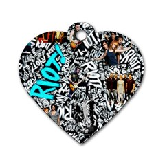 Panic! At The Disco College Dog Tag Heart (two Sides) by Onesevenart