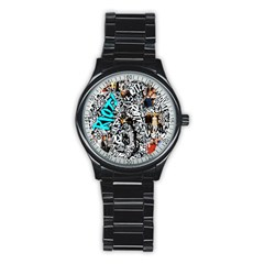 Panic! At The Disco College Stainless Steel Round Watch by Onesevenart