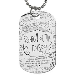 Panic! At The Disco Lyrics Dog Tag (two Sides) by Onesevenart