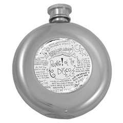 Panic! At The Disco Lyrics Round Hip Flask (5 Oz) by Onesevenart