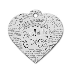 Panic! At The Disco Lyrics Dog Tag Heart (one Side) by Onesevenart