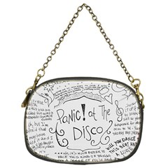 Panic! At The Disco Lyrics Chain Purses (one Side)  by Onesevenart