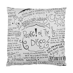 Panic! At The Disco Lyrics Standard Cushion Case (two Sides) by Onesevenart