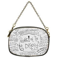 Panic! At The Disco Lyrics Chain Purses (two Sides)  by Onesevenart
