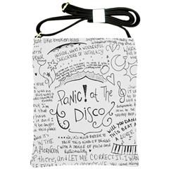 Panic! At The Disco Lyrics Shoulder Sling Bags by Onesevenart