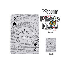 Panic! At The Disco Lyrics Playing Cards 54 (mini)  by Onesevenart