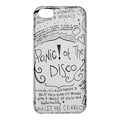 Panic! At The Disco Lyrics Apple Iphone 5c Hardshell Case by Onesevenart