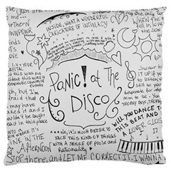 Panic! At The Disco Lyrics Standard Flano Cushion Case (two Sides) by Onesevenart