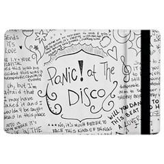 Panic! At The Disco Lyrics Ipad Air 2 Flip by Onesevenart