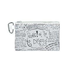 Panic! At The Disco Lyrics Canvas Cosmetic Bag (s) by Onesevenart