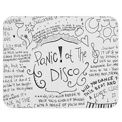 Panic! At The Disco Lyrics Double Sided Flano Blanket (medium)  by Onesevenart