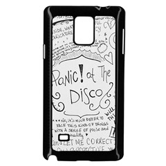 Panic! At The Disco Lyrics Samsung Galaxy Note 4 Case (black) by Onesevenart