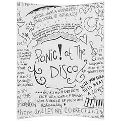 Panic! At The Disco Lyrics Back Support Cushion by Onesevenart