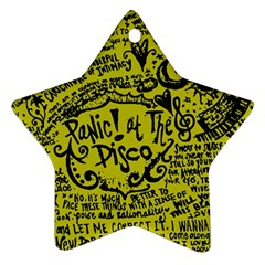 Panic! At The Disco Lyric Quotes Ornament (star) by Onesevenart