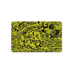 Panic! At The Disco Lyric Quotes Magnet (name Card) by Onesevenart
