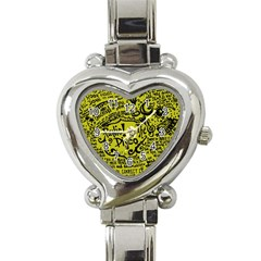 Panic! At The Disco Lyric Quotes Heart Italian Charm Watch by Onesevenart