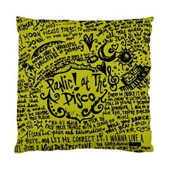 Panic! At The Disco Lyric Quotes Standard Cushion Case (two Sides) by Onesevenart