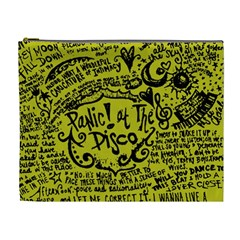 Panic! At The Disco Lyric Quotes Cosmetic Bag (xl) by Onesevenart