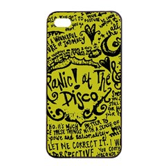 Panic! At The Disco Lyric Quotes Apple Iphone 4/4s Seamless Case (black) by Onesevenart