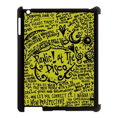 Panic! At The Disco Lyric Quotes Apple Ipad 3/4 Case (black) by Onesevenart