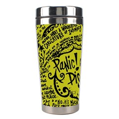 Panic! At The Disco Lyric Quotes Stainless Steel Travel Tumblers by Onesevenart