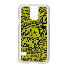 Panic! At The Disco Lyric Quotes Samsung Galaxy S5 Case (white) by Onesevenart