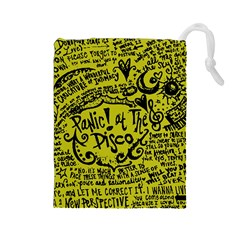 Panic! At The Disco Lyric Quotes Drawstring Pouches (large)  by Onesevenart