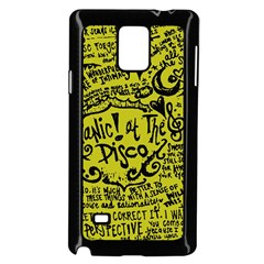 Panic! At The Disco Lyric Quotes Samsung Galaxy Note 4 Case (black) by Onesevenart