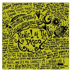 Panic! At The Disco Lyric Quotes Large Satin Scarf (square) by Onesevenart