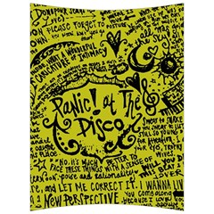 Panic! At The Disco Lyric Quotes Back Support Cushion by Onesevenart