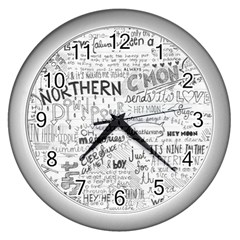 Panic At The Disco Lyrics Wall Clocks (silver)  by Onesevenart