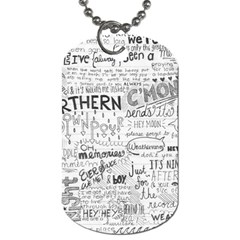 Panic At The Disco Lyrics Dog Tag (one Side) by Onesevenart
