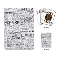 Panic At The Disco Lyrics Playing Card by Onesevenart