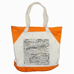 Panic At The Disco Lyrics Accent Tote Bag by Onesevenart