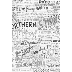 Panic At The Disco Lyrics 5 5  X 8 5  Notebooks by Onesevenart