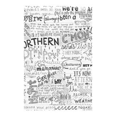 Panic At The Disco Lyrics Shower Curtain 48  X 72  (small)  by Onesevenart