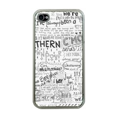 Panic At The Disco Lyrics Apple Iphone 4 Case (clear) by Onesevenart