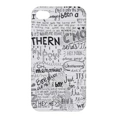 Panic At The Disco Lyrics Apple Iphone 4/4s Hardshell Case by Onesevenart